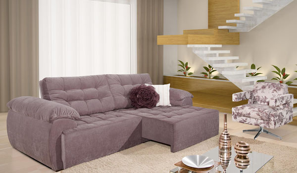 Sala pequena com sofa retratil id ias for Sofas para sala pequena